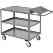 Jamco Three Shelf Order Picking Cart LO236 36x24 Flush Top Shelf