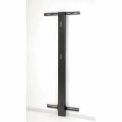 "72""H Wall Mount Post - Black"