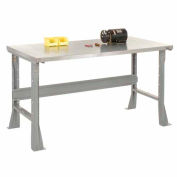 60 x30 Stainless Steel Square Edge Workbench With Fixed Legs