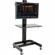Global Industrial™ LCD/Plasma Mobile Cart - Black