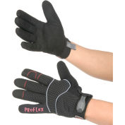 Ergodyne® ProFlex® 812 Utility Gloves, Synthetic Leather Palm, Black, Large, 1 Pair