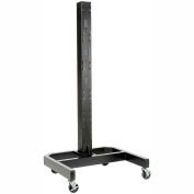 "78""H Mobile Post with Caster Base - Black"