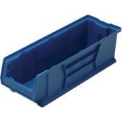 Quantum Hulk Plastic Stacking Bin QUS950BL 8-1/4 x 23-7/8 x 7 Blue - Pkg Qty 6