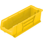 Quantum Hulk Plastic Stacking Bin QUS950YL 8-1/4 x 23-7/8 x 7 Yellow - Pkg Qty 6