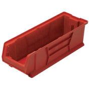 Quantum Hulk Plastic Stacking Bin QUS950RD 8-1/4 x 23-7/8 x 7 Red - Pkg Qty 6