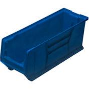 Quantum Hulk Plastic Stacking Bin QUS951BL 8-1/4 x 23-7/8 x 9 Blue - Pkg Qty 6