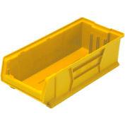 Quantum Hulk Plastic Stacking Bin QUS952YL 11 x 23-7/8 x 7 Yellow - Pkg Qty 4