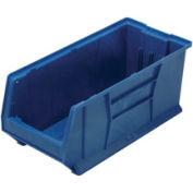 Quantum Hulk Plastic Stacking Bin QUS953BL 11 x 23-7/8 x 10 Blue - Pkg Qty 4