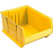 Quantum Hulk Plastic Stacking Bin QUS954YL 16-1/2 x 23-7/8 x 11 Yellow