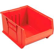 Quantum Hulk Plastic Stacking Bin QUS954RD 16-1/2 x 23-7/8 x 11 Red