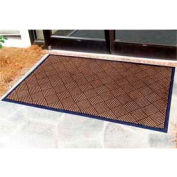 "Outdoor Scraper Entrance Mat 1/4"" Thick 24"" X 36"" Brown"