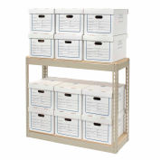 """Record Storage Rack With Boxes 42""""W x 15""""D x 36""""H"""
