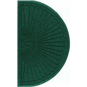 """Waterhog Grand Classic Mat Half Oval 6'W X 3'4""""L Green"""