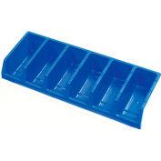 Akro-Mils System Bins™ 30312 Plastic Six Compartment Bin 33 x 12 x 5 Blue - Pkg Qty 5