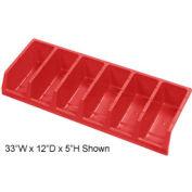 Akro-Mils System Bins™ 30318 Plastic Six Compartment Bin 33 x 18 x 5 Red - Pkg Qty 5