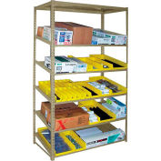 """Sloped Flow Shelving Add-On 36""""Wx 18""""D x 84H"""" Tan"""