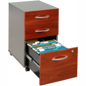 Bush Furniture Three Drawer File Cabinet (Unassembled) - Hansen Cherry - Series C