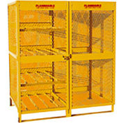 "Jamco Cylinder Storage Cabinet CX100- Combo Double Door 8 & 10 Cylinders - 64""W x 40""D x 71""H"
