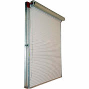 DBCI 8 x 10 White Manual Push-Up 2000 Series Roll-Up Dock Door