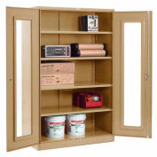 Paramount™ Clear View Storage Cabinet Easy Assembly 48x24x78 - Tan