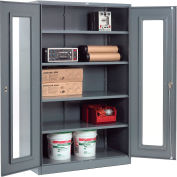 Paramount™ Clear View Storage Cabinet Assembled 48x24x78 - Gray