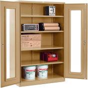 Global™ Clear View Storage Cabinet Assembled 48x24x78 - Tan