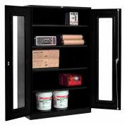Global™ Clear View Storage Cabinet Assembled 48x24x78 - Black