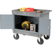 "Mobile Maintenance Cart with Tray Top Shelf 8"" Pneumatic Casters"