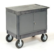 "Mobile Maintenance Cart with Flat Top Shelf 8"" Pneumatic Casters"
