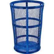 Outdoor Metal Trash Container Blue, 48 Gallon - EXP-52P-BL