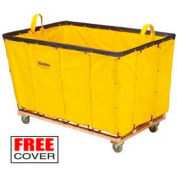 Best Value 8 Bushel Yellow Vinyl Basket Bulk Truck