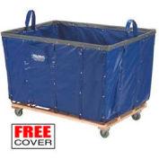 Best Value 12 Bushel Blue Vinyl Basket Bulk Truck