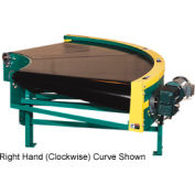 "Omni Power Turn Belt Conveyor BCCU-PT36-90LH 12""W 90 Degree Left Curve 36 Degree Radius 3/4 HP"