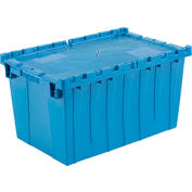 Plastic Shipping Container - Hinged Lid Storage DC2515-14 24-1/2 x 14-7/8 x 13-3/4 Blue - Pkg Qty 3