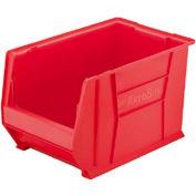 "Akro-Mils Super-Size AkroBin® 30280 - Stacking Bin 12-3/8""W x 20""D x 6""H Red - Pkg Qty 4"