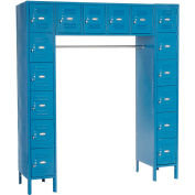 Paramount® 16 Person Locker 12  X 18 X 12 Ready To Assemble Blue