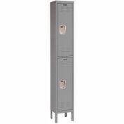 Hallowell U1228-2A-HG Premium Locker Double Tier 12x12x36 2 Door Assembled Gray