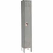 Hallowell U1228-1HG Premium Locker Single Tier 12x12x72 1 Door Ready Assemble Gray
