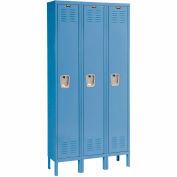 Hallowell U3288-1MB Premium Locker Single Tier 12x18x72 3 Door Ready Assemble Blue