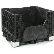 Buckhorn Folding Bulk Shipping Container - BH4840342010000 - 48x40x34 2500 Lbs. Black