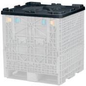 Buckhorn Folding Bulk Container Lid TS323002001000 - 32x30  Black