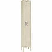 Hallowell U1256-1A-PT Premium Locker Single Tier 12x15x60 1 Door Assembled Parchment