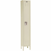 Hallowell U1258-1A-PT Premium Locker Single Tier 12x15x72 1 Door Assembled Parchment