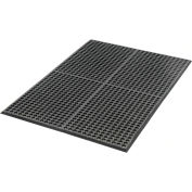 "Extra Value Drainage Matting 1/2"" Thick 3'Wx5'W Black With Grit Top"