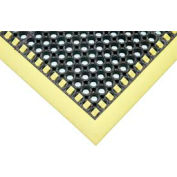 Hi-Visibility Safety Drainage Matting With Grit Top 3-Sided Border 26x40 Yellow