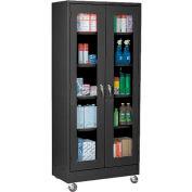 Sandusky Mobile Clear View Storage Cabinet TA4V462472 - 46x24x78, Black