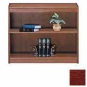 "Unassembled 30""H Contemporary Square Edge Bookcase Medium Cherry"