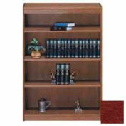 "Unassembled 60""H Contemporary Square Edge Bookcase Medium Cherry"