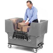 Dandux Gray Easy Access 18 Bushel Plastic Mail & Box Truck 51166718A-5S with Cargo Net