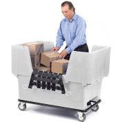 Dandux White Easy Access 18 Bushel Plastic Mail & Box Truck 51166718N-5S with Cargo Net